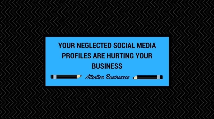 neglecting social media